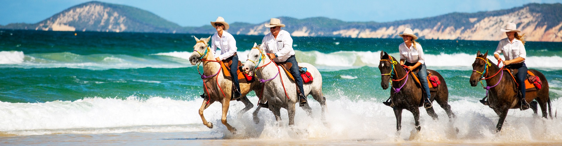 Horseriding along beautiful Rainbow beach QLD