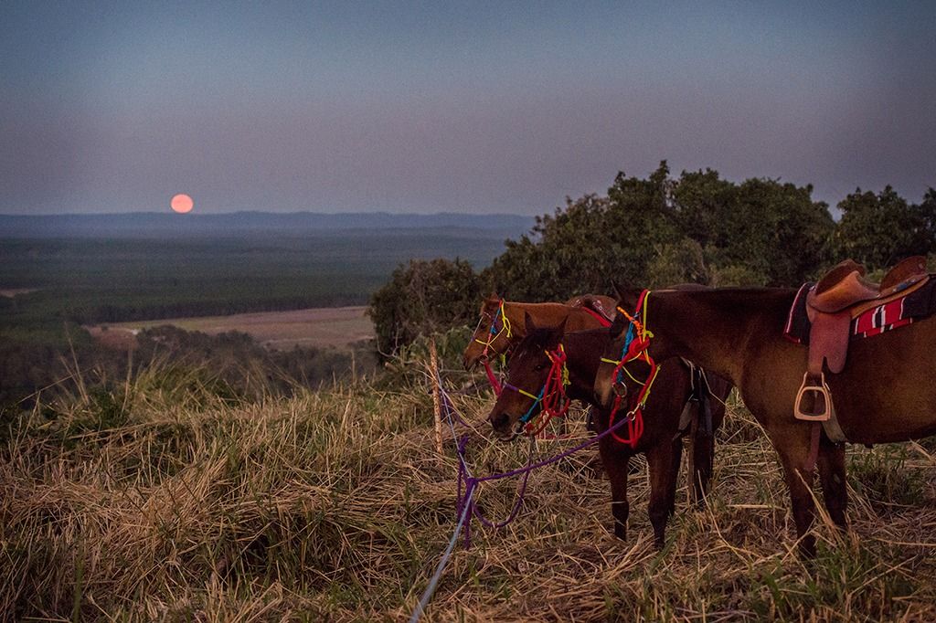 Romantic getaway with a difference, overnight horse riding adventure.