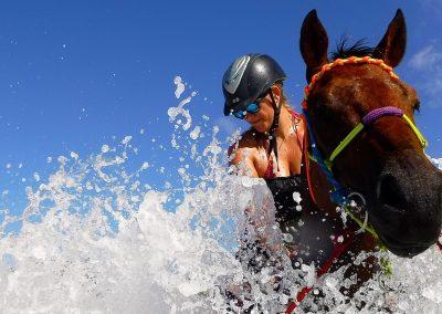 Splashing around in the surf