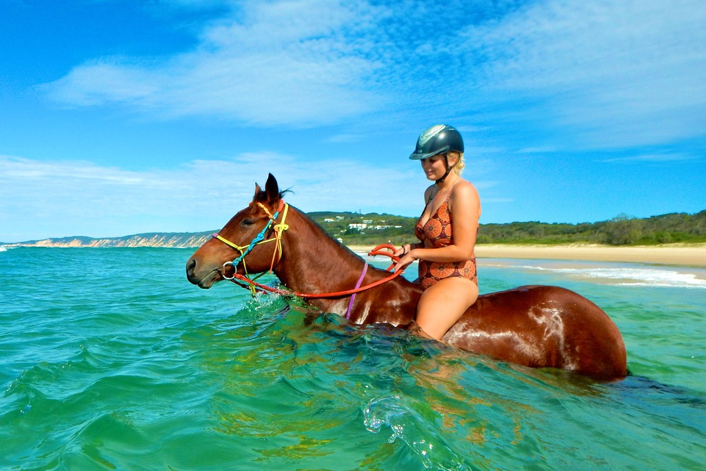 Only place in the world where you can ride horses into the ocean