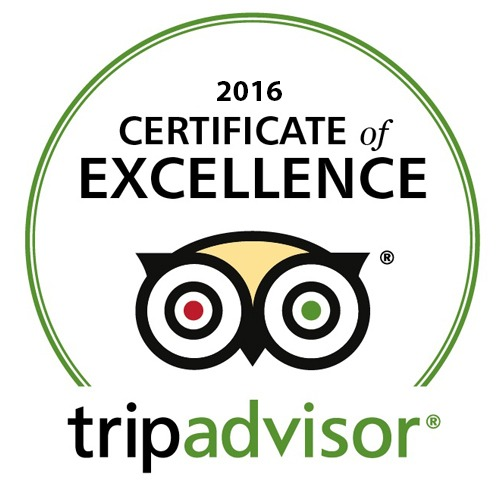 Great customer reviews have earned us business of the year award 3 years in a row from Trip Advisor.